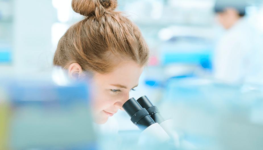 Chemist ensuring safety on probiotics